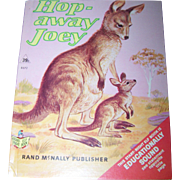 "Straight Right Elf Book rand McNally "" Hop Away Joey ""  Kangaroo"