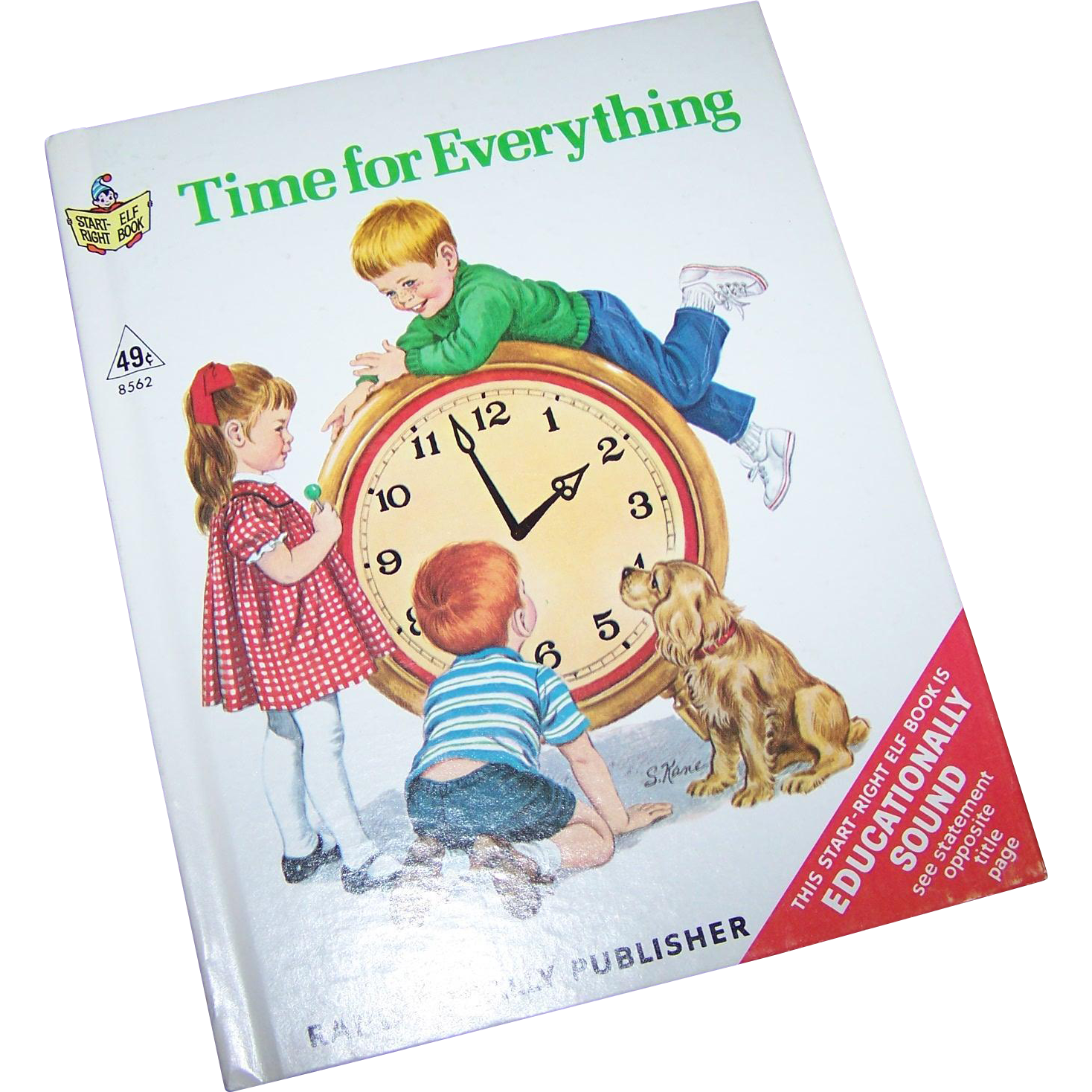 "Start Right Junior Elf Book ""Time for Everything "" Rand McNally"