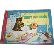 "Vintage Collectible Children's Board Book "" Funny Animals "" John Martin's House"