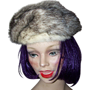 Lovely Stylish  Vintage Ladies Mink Fur Fashion  Hat Cap