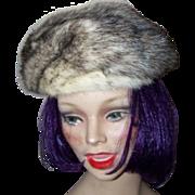 Lovely Stylish  Vintage Ladies Mink Fur Fashion  Hat Cap - Red Tag Sale Item