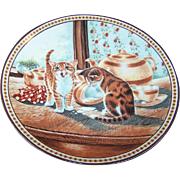 Knowles Collector Plate Teatime Tabbies by Christine Wilson with Box & Certificate