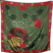 Stunning Bright Jungle Wild Cat  Themed Ladies Fashion Scarf