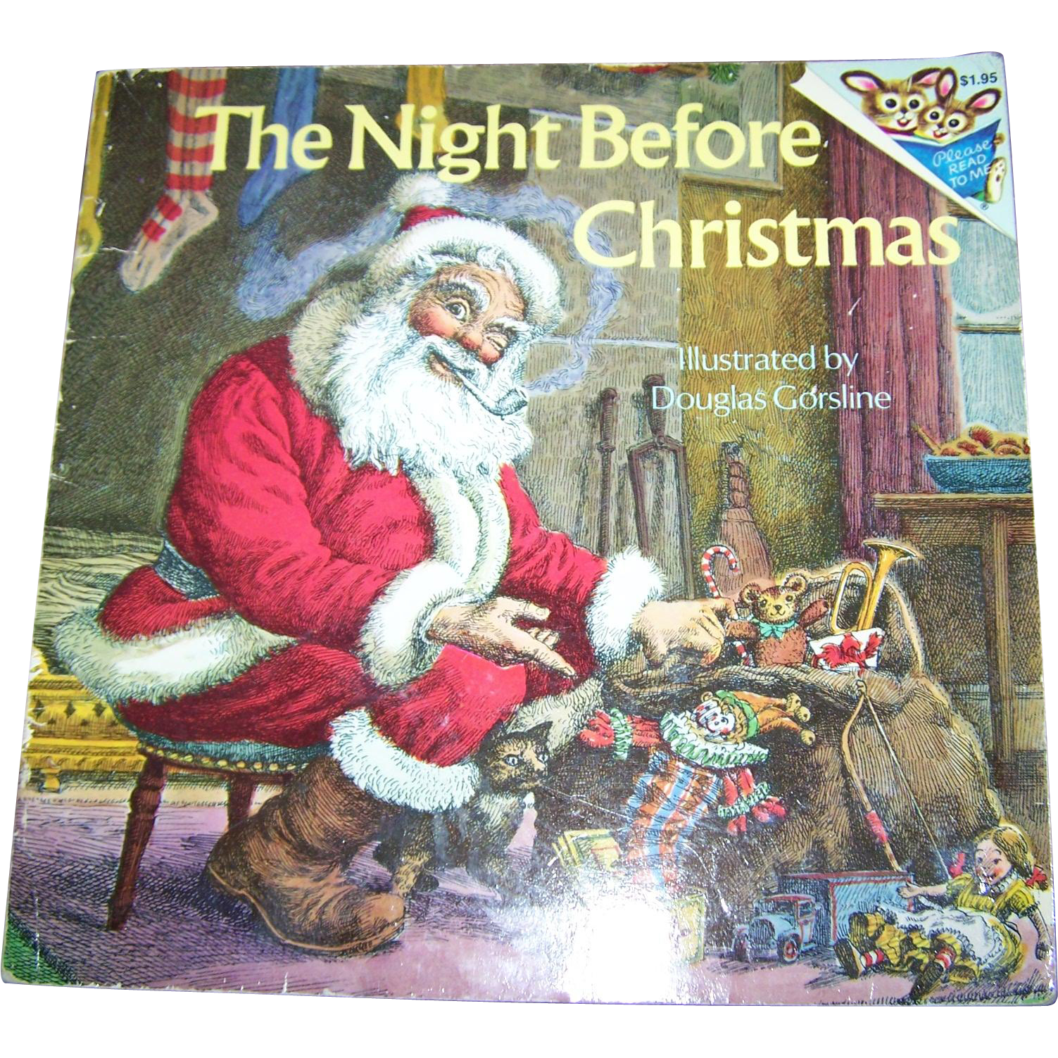 Soft Cover Booklet Book THe Night Before Christmas Random House  New York 1975