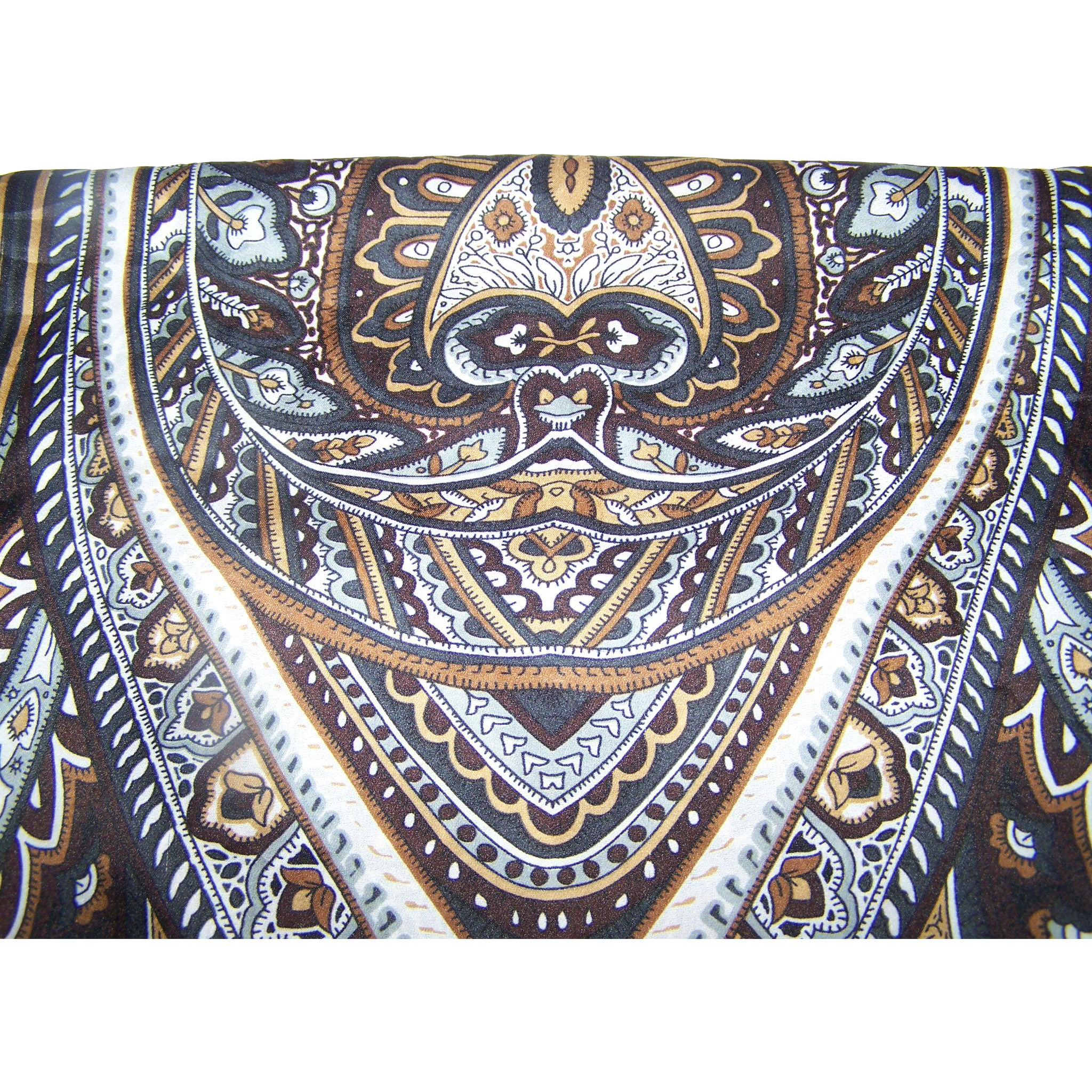 Pretty Designer Signed Anne Klein Long Rectangular Paisley Print Scarf