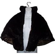 Stylish Vintage Faux Fur Cape Stole G.Caserotti Originals