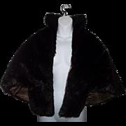 Stylish Vintage Faux Fur Cape Stole G.Caserotti Originals
