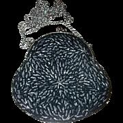 Vintage Fashion Accessory Designer  La Regale LTD Glass Bead Purse Evening Bag