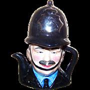 Miniature Police English Bobbie Teapot Artone England HandPainted Porcelain
