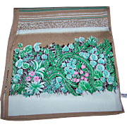 Unique Vintage Log Rectangular Flower House Plant Floral Ladies Fashion Scarf