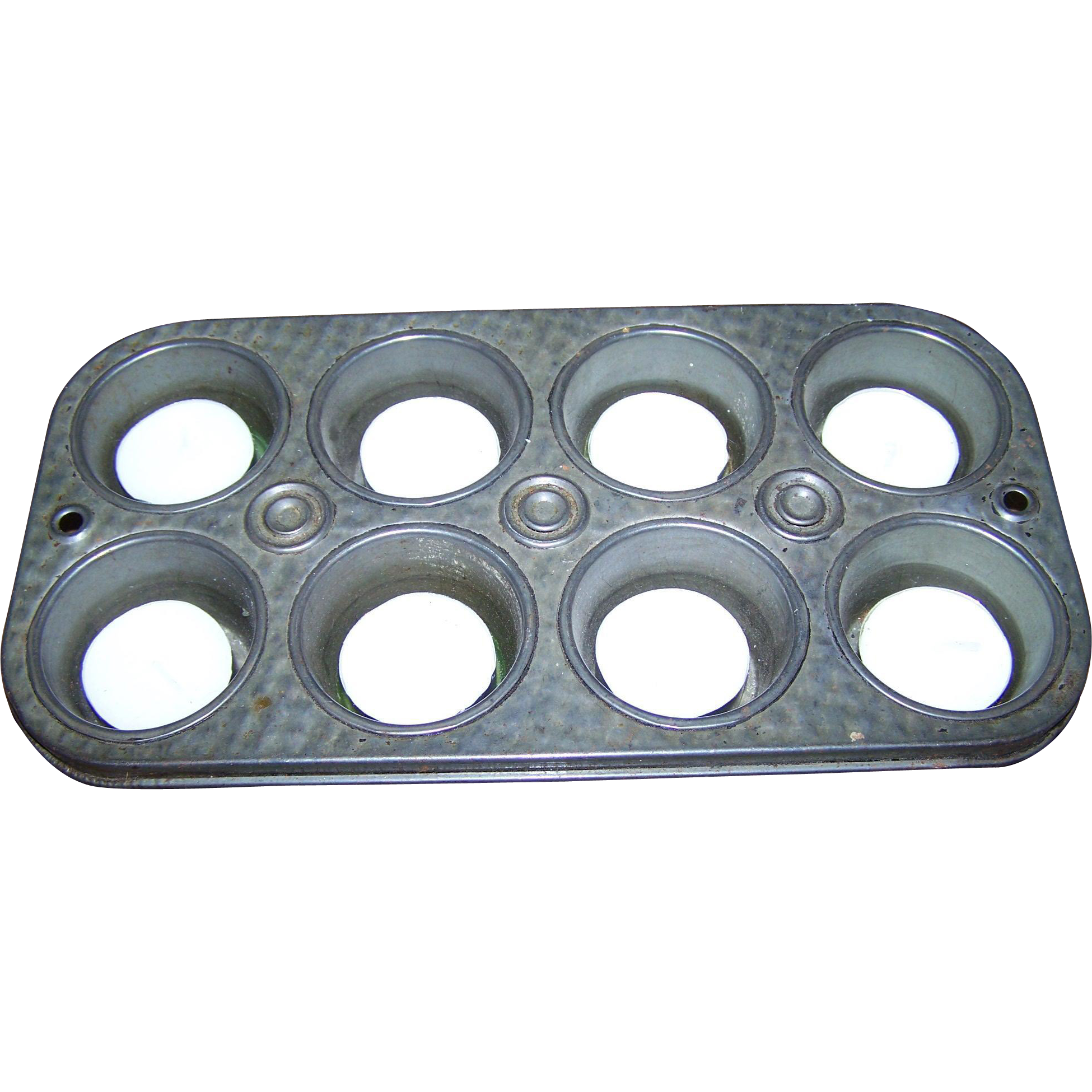 Lovely Small Metal Ware Muffin Baking Tin OR Tea Lite Candle Holder