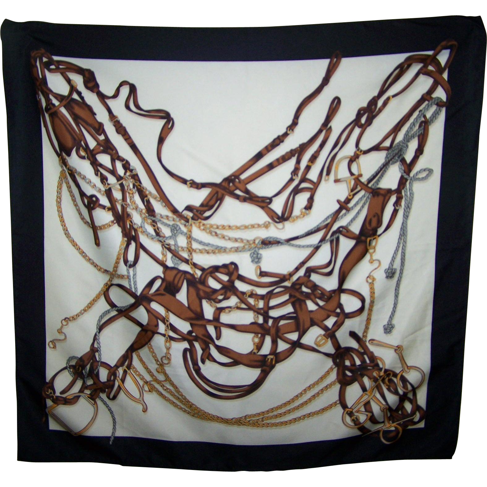 Hey Buckaroo  Horse  Equestrian Tack Themed Ladies Fashion Scarf