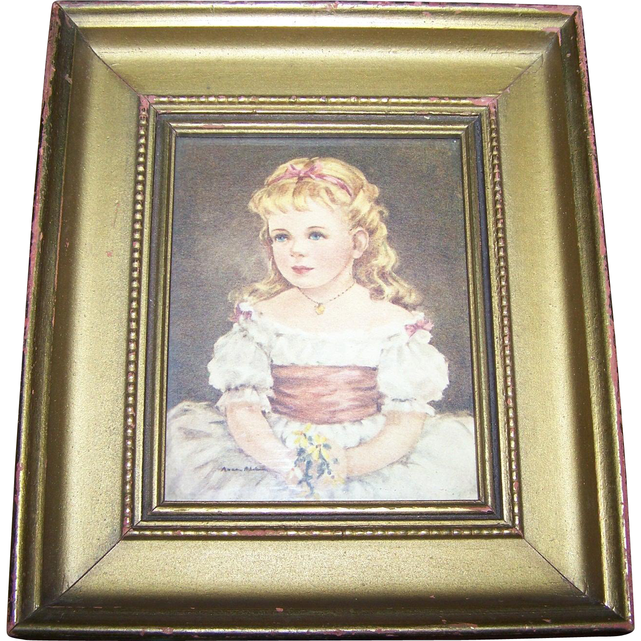 Framed  Wall Art Portrait Print Of Marian by Ann Allaban C & A Richard Boston , MASS