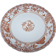 Victoria 1790 K & Co.  Late Mayers Brown Transfer Polychrome Dinner Plate