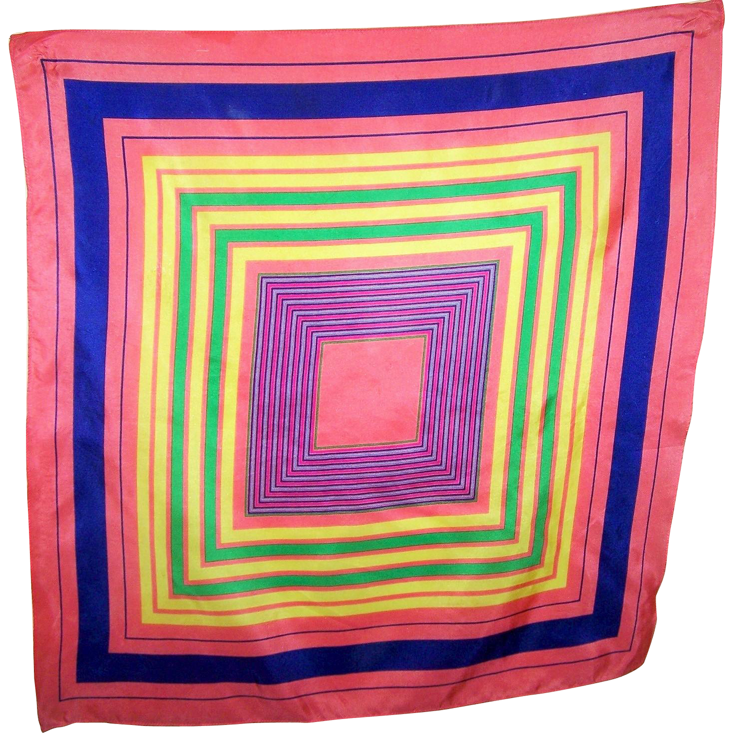 Rather Unique Hypnotizing OP ART Pattern Colorful Ladies Fashion Scarf Wearable ART