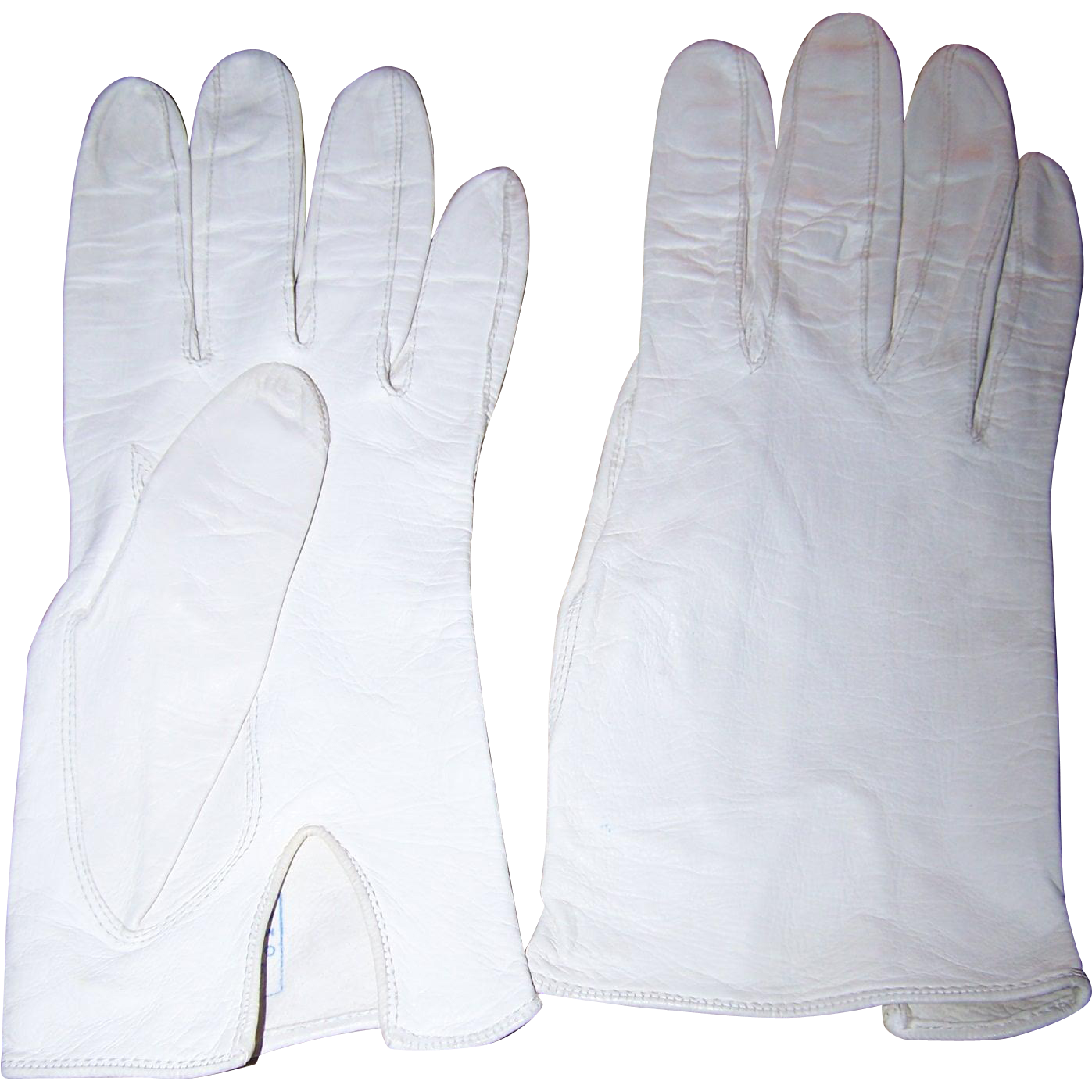 Ladies leather gloves designer - Designer Guibert Freres Off White Ladies Kid Leather Gloves Size 7 Model Edeltan