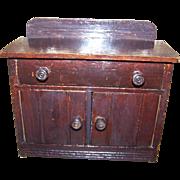 Sweet Vintage Wooden Folk Art Toy  or Salesman Sample Side Board