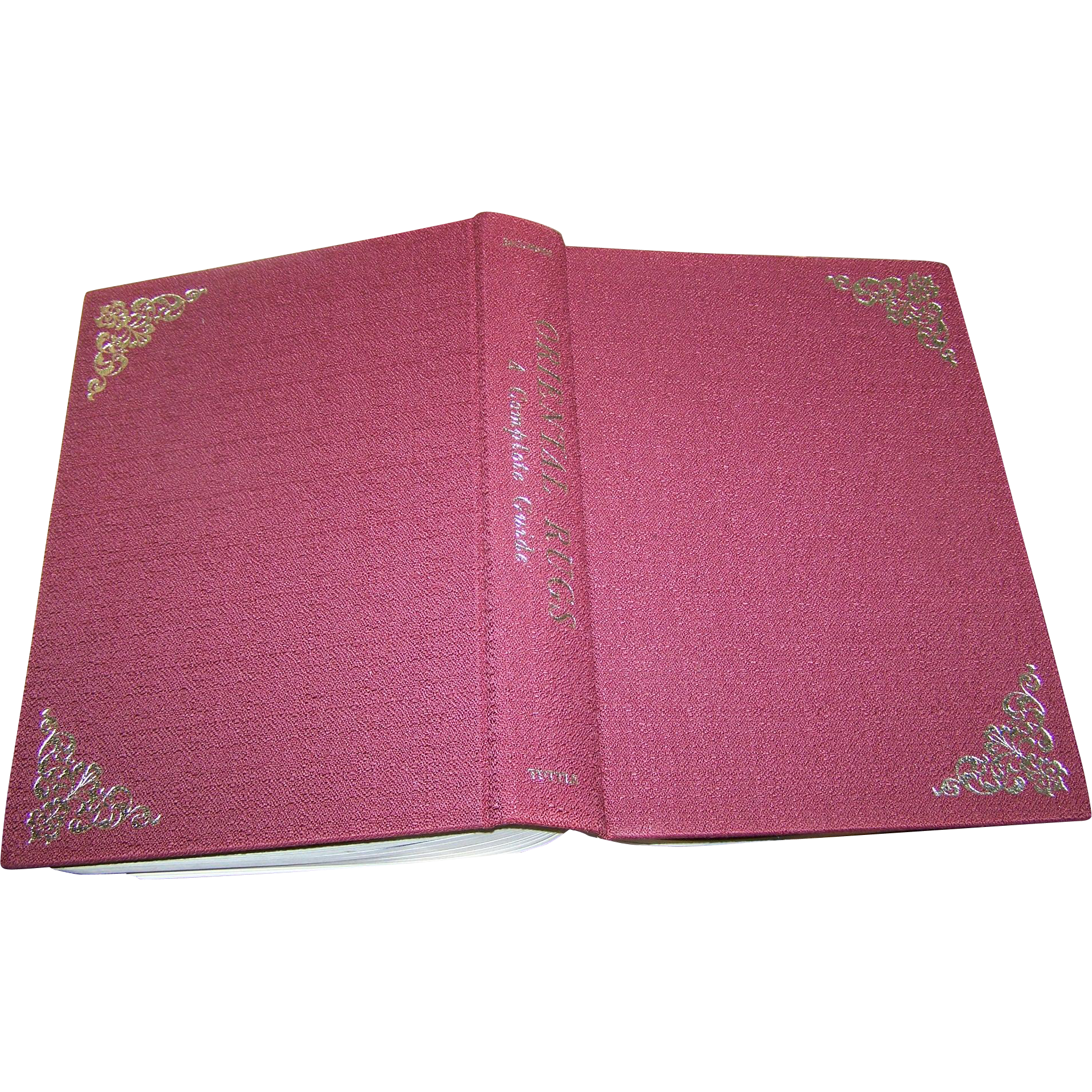 "Beautiful Vinage Book Titled "" Oriental Rugs "" A Complete Guide by Charles W. Jacobsen"