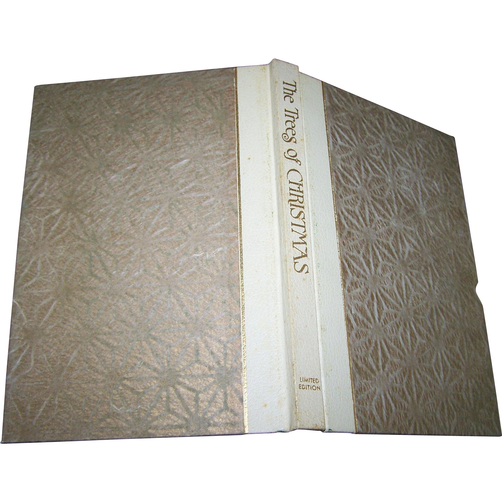 "Hard Cover Book with Jacket "" The Trees of Christmas "" Limited Edition 1969"