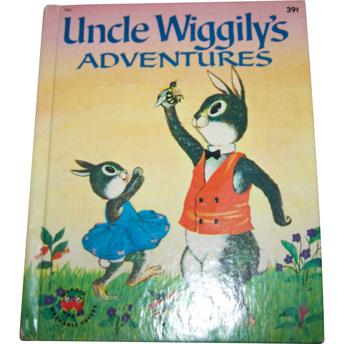 Charming Vintage Children's Book Uncle Wiggily's Adventures  Wonder Books