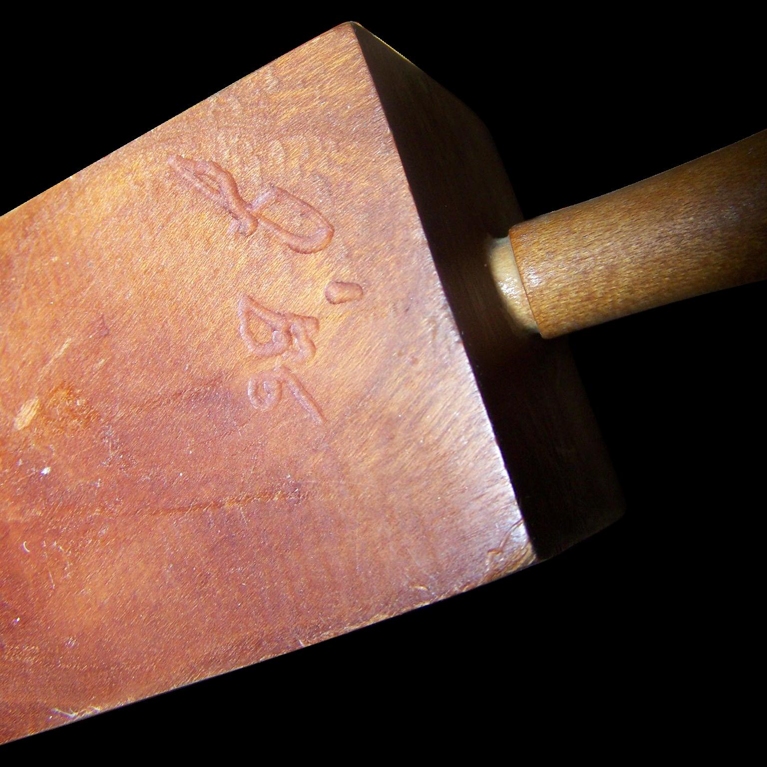 Great Old Hand Crafted Wood Door Stop  Jam  Wedge