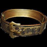 Vintage taille d'Epargne / d'Epergne Buckle Bangle Bracelet