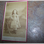 Vintage Carte de Visite  Photograph Pretty Little Girl C.  Lebert Paris