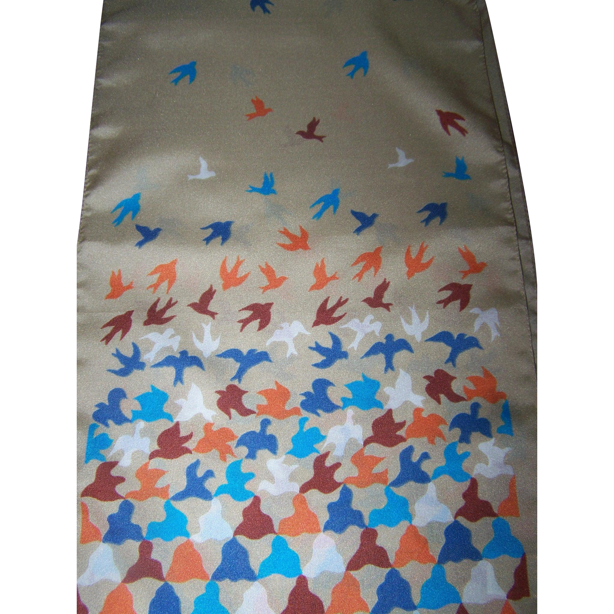 Sweet Bird Themed Polyester Ladies Long Rectangular Fashion Scarf