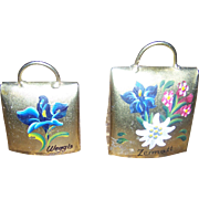 2 Brass Souvenir Metal Ware Bells from Weggis and Zermatt Switzerland