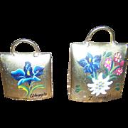 2 Brass Souvenir Metal Ware Bells from Weggis and Zermatt Switzerland