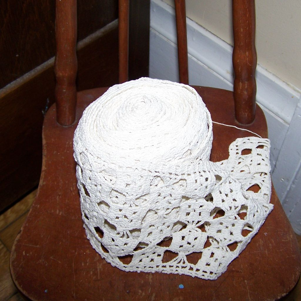 A Beautiful Roll of Vintage lace Crochet Style