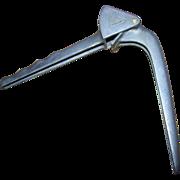 Vintage Hercules  Made in Italy Garlic Press Crusher Aluminum Metal Ware