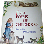 """Soft Cover Children's Book """" First Poems of Childhood """" Illustrated by Tasha Tudor"""