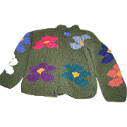Vintage Otavalo Native American 100 percent Wool Sweater Children's