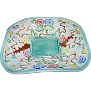 Decorative Hand Painted Indian Tree H. J. Wood LTD England Embossed Art Pottery Platter Dish Plate
