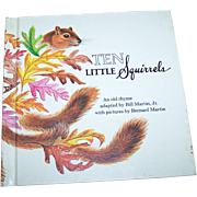 "Charming Little Children's Book ""Ten Little Squirrels "" Holt  Rinehart Winston 1970"