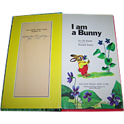 "Illustrated Board Book "" I Am a Bunny "" by Ole Risom Pictures by Richard Scarry"