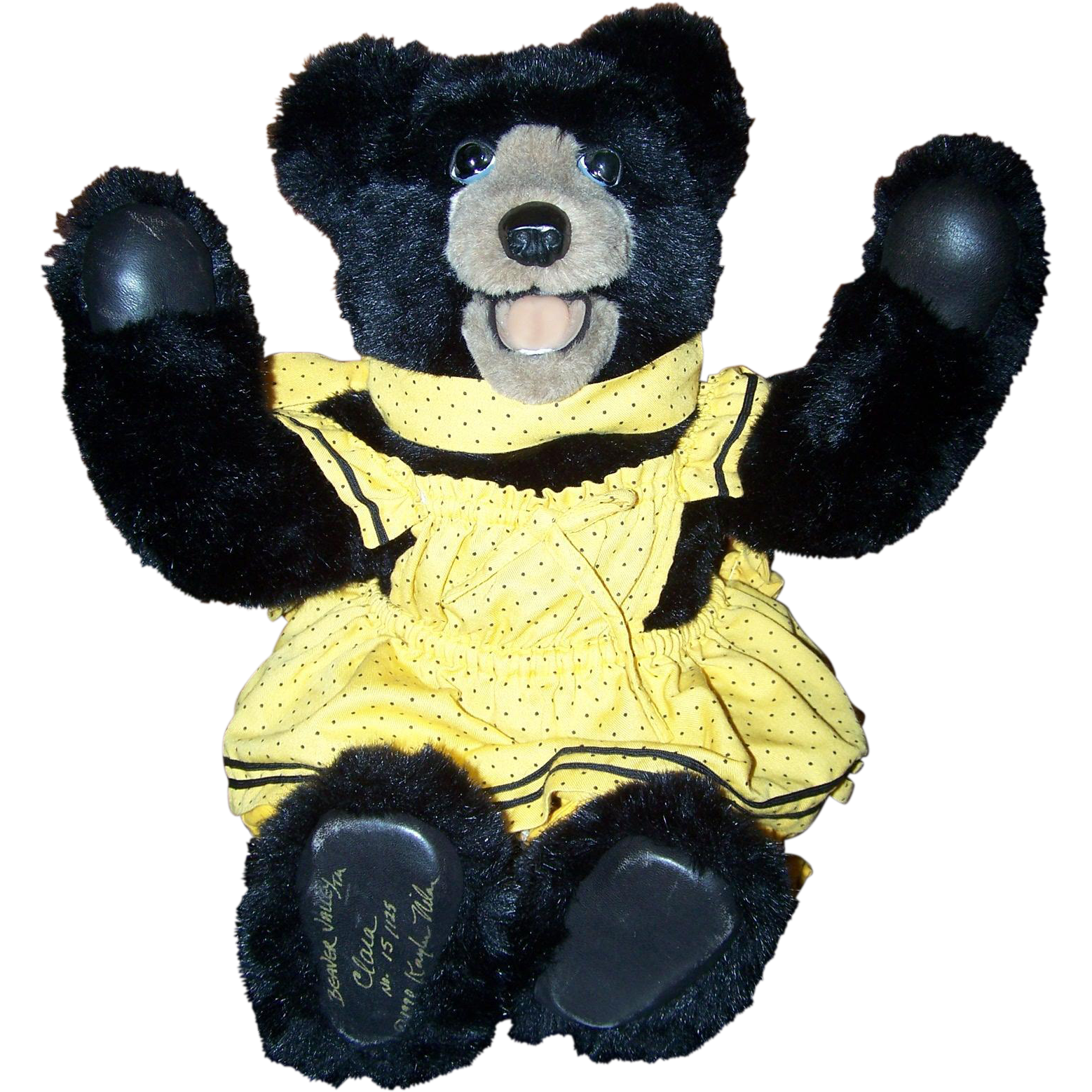 Artist Signed Beaver Valley Teddy Bear Clara No.15 / 125 1990 Kaylee Nilan