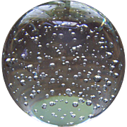 Large Clear Controlled Bubble Glass Paper Weight