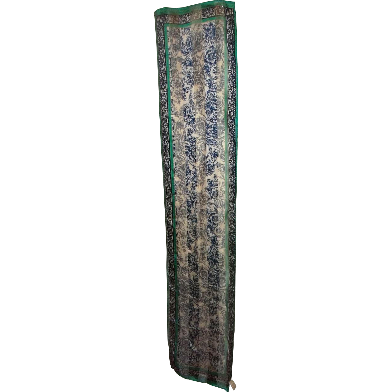 Vintage Elaine Gold for Collection XIIX Floral Motif Scarf