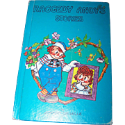 "Hard Cover Children's Book "" Raggedy Andy Stories "" Introducing Little Rag By Johnny Gruelle"