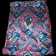 Colorful Designer Signed Long Rectangular CLUB Echo 7 Scarf Paisley Flower Pattern