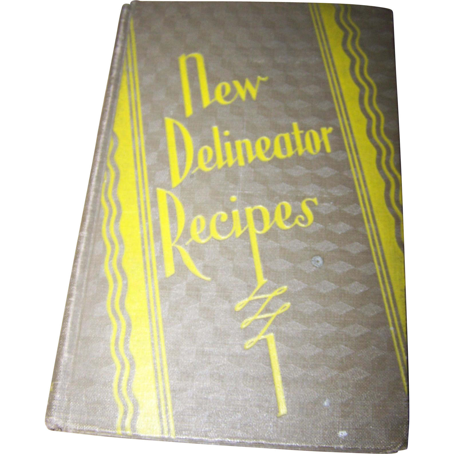 Modern Recipe Book Cover ~ Vintage hard cover new delineator recipes cook book