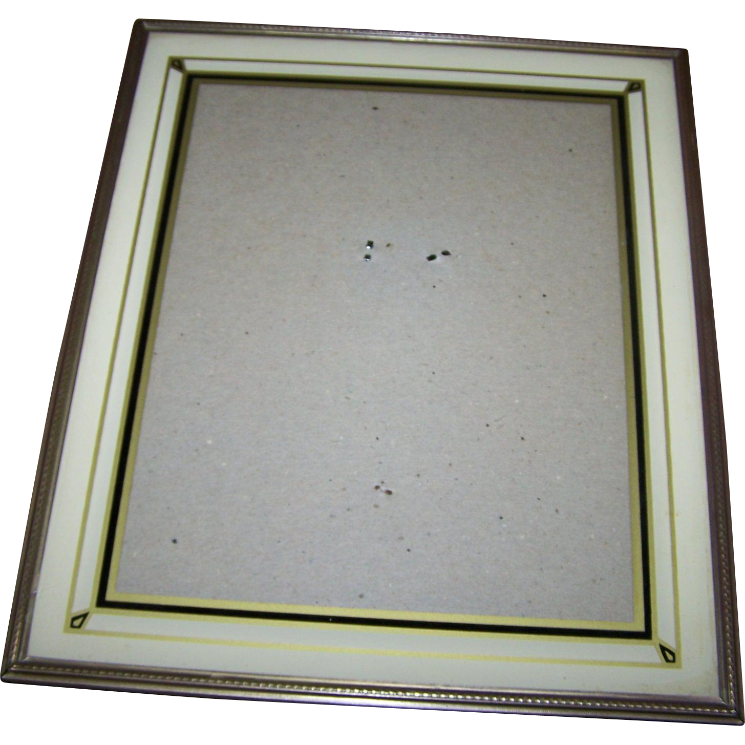 Vintage Art Deco Era Reverse Painted Glass Photographic Picture