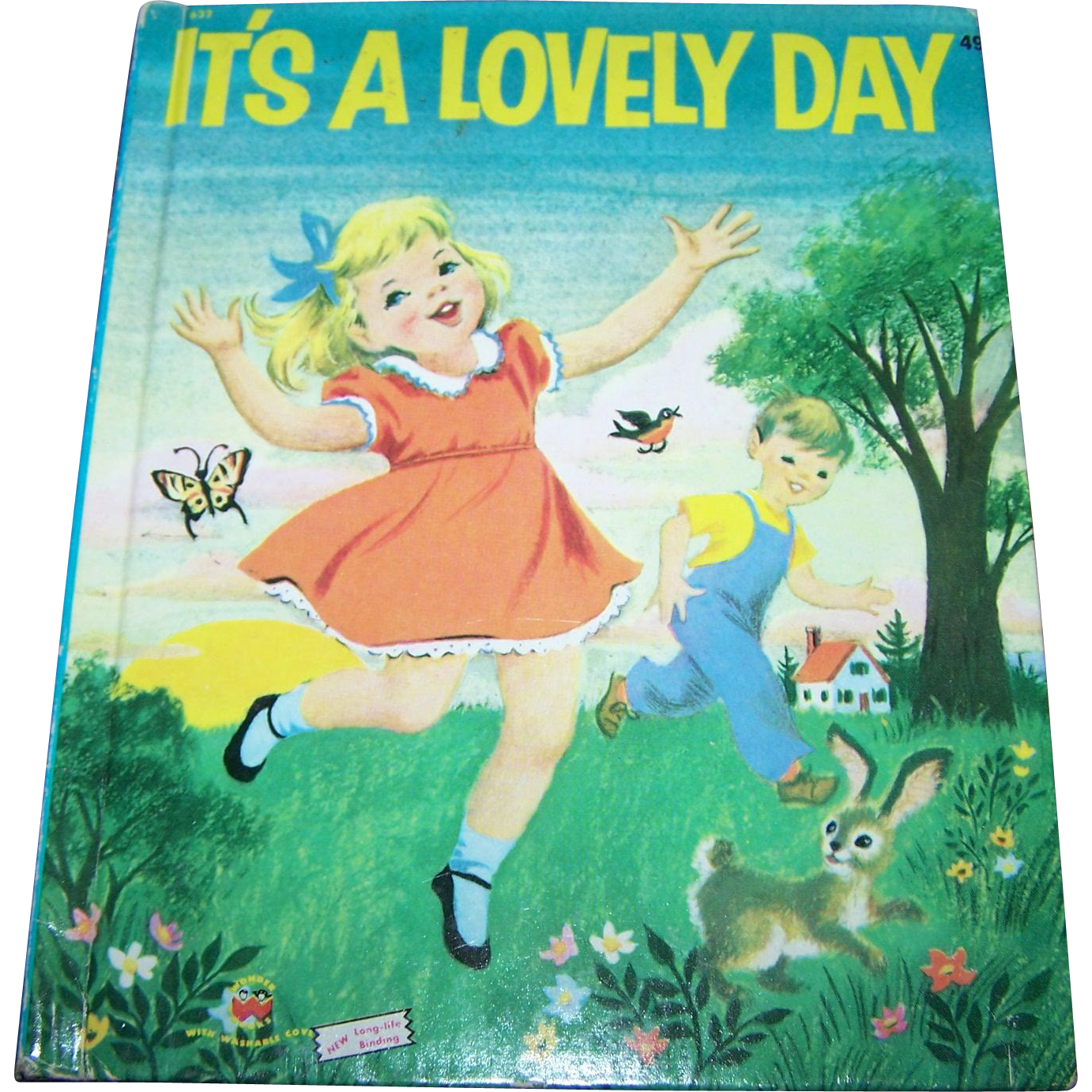 "Charming Vintage Hard Cover Children's Book "" It's A Lovely Day "" by Marguerite Walters"