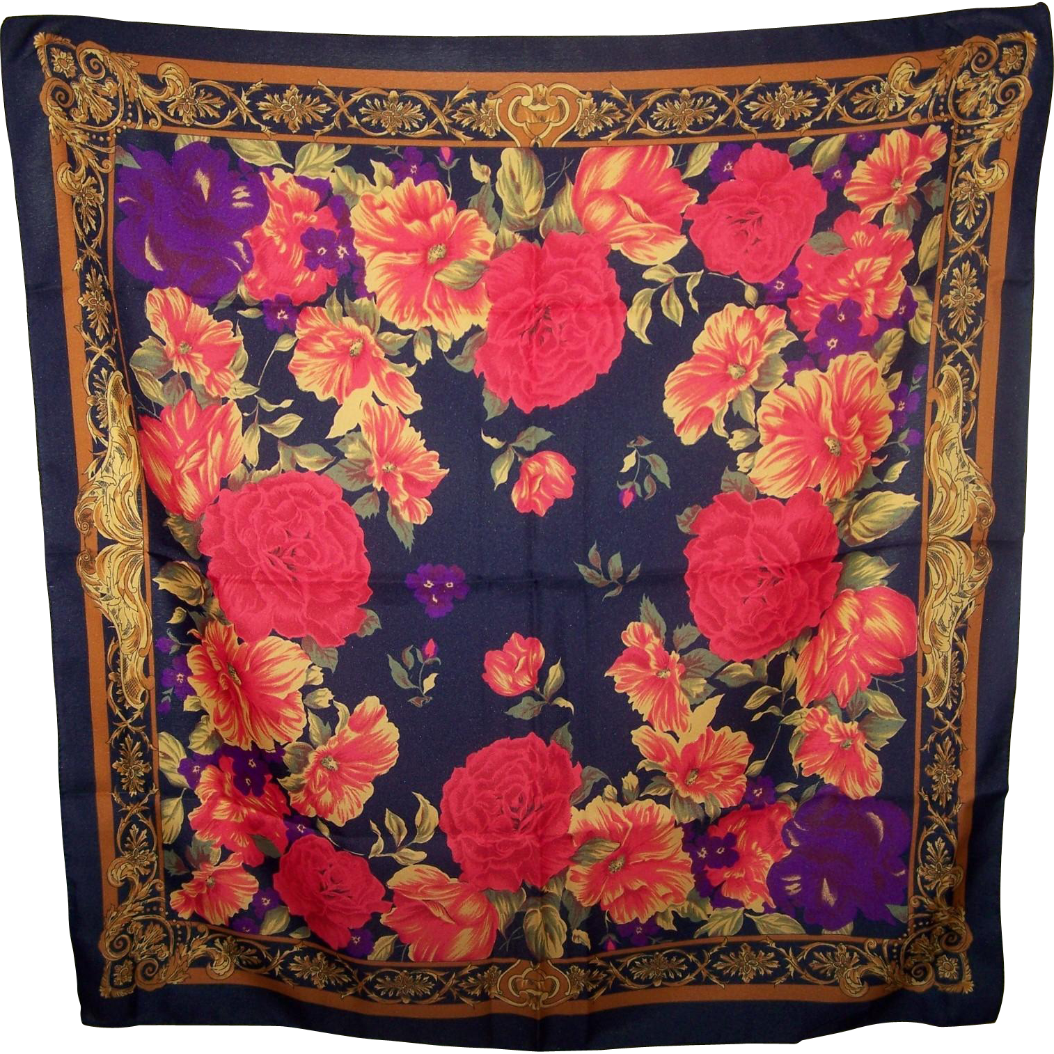 A Lovely Rich Floral Print Berkshire Ladies Fashion Accessory Accent Scarf