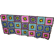 A beautiful hand crochet Granny Square Style Blanket Cheerful and Colorful