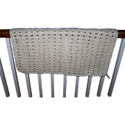 Charming Vintage Hand Crochet Small Infant Baby Blanket with Ribbon