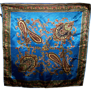 Wearable Art A Vintage   Ladies Fashion Scarf With a Rich Color Palette and Paisley Pattern