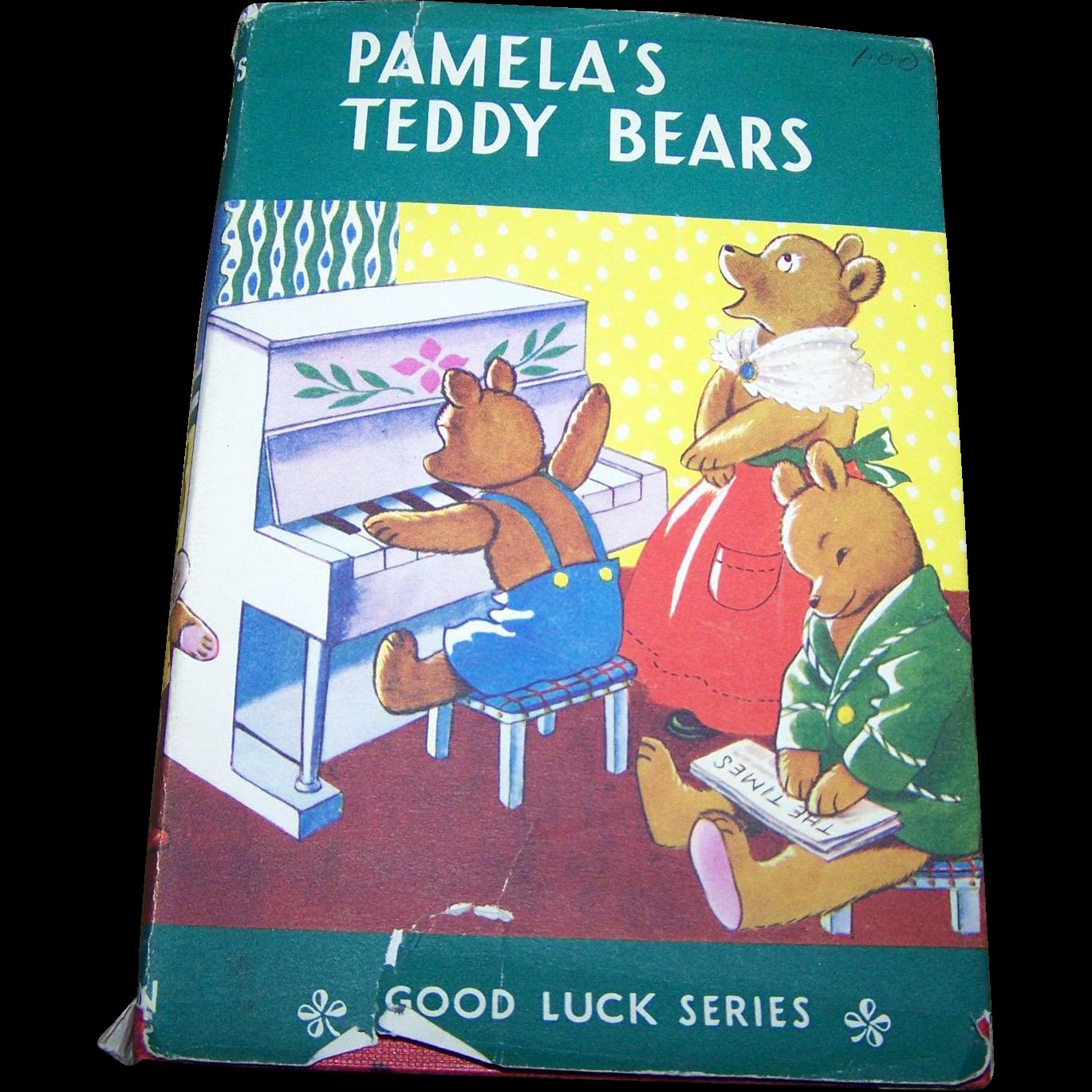A Vintage Children's Book Pamela's Teddy Bears Good Luck Series  Mrs. H. C.  Cradock